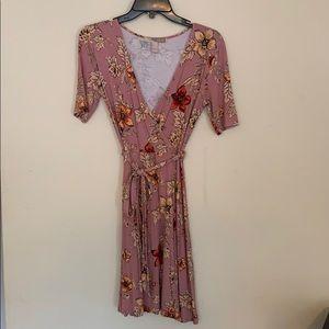 XXI floral wrap dress